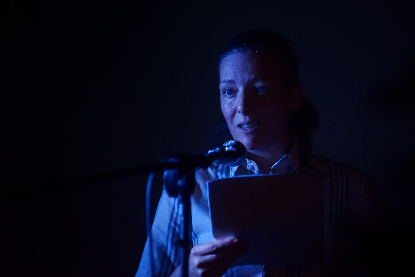 Ely Percy, reading at Launch Party, ROST. Photo: Andrew Mckenna