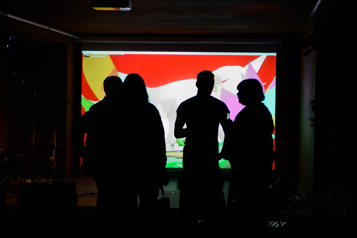 Mez Breeze, VR Literature, screened at Launch Party, ROST. Photo: Andrew Mckenna