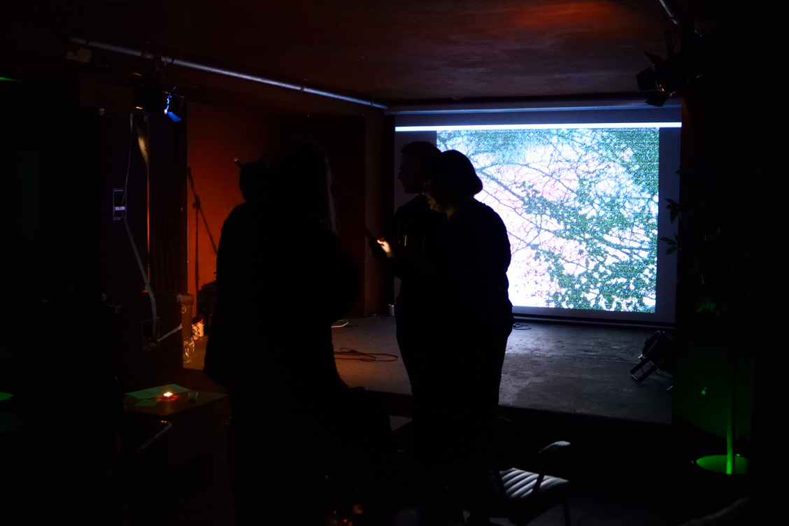 Sam Wood 'Spirit Washing', screened at Launch Party, ROST. Photo: Andrew Mckenna
