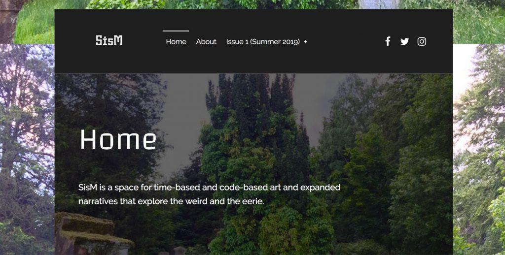 A screenshot of SisM's website.